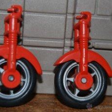 Playmobil - PLAYMOBIL. ACCESORIO ANTIGUO MOTO MOTOCICLETA ROJA. RUEDA HORQUILLA SUSPENSIÓN. 3565 (V1) - 105948150