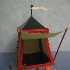 Playmobil: PLAYMOBIL TIENDA CAMPAÑA BANDERIN Y VALLA ROMANOS BELEN MEDIEVAL ROMANO PIEZAS. Lote 51966727