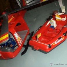 Playmobil: PLAYMOBIL.HELICÓPTERO Y LANCHA ZODIAC DE RESCATE EN EL MAR.1983.REF.4428.. Lote 51590852