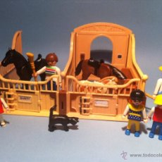 Playmobil: PLAYMOBIL ESTABLO CUADRA CABALLOS Y PONY. Lote 52713709