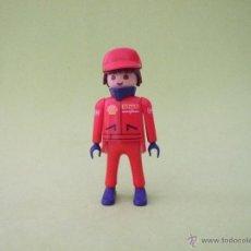 Playmobil: PLAYMOBIL OPERARIO DE GASOLINERA SHELL, MECÁNICO, PILOTO. Lote 53159679