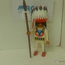 Playmobil: PLAYMOBIL JEFE INDIO. Lote 53417274