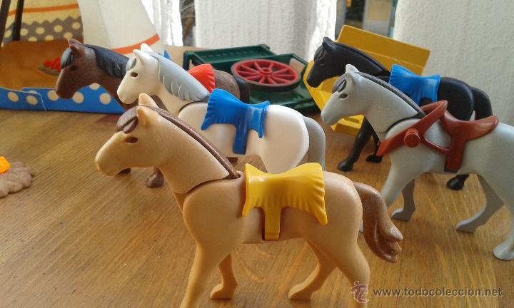 Playmobil: TIENDA INDIA PLAYMOBIL AÑO 1989 ,INDIOS PLAYMOBIL AÑO 1993,CABALLOS PLAYMOBIL,ROCA CACTUS AÑO 1995 - Foto 4 - 53511330