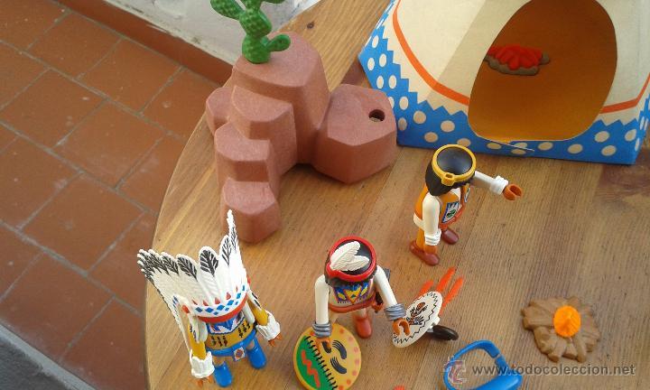Playmobil: TIENDA INDIA PLAYMOBIL AÑO 1989 ,INDIOS PLAYMOBIL AÑO 1993,CABALLOS PLAYMOBIL,ROCA CACTUS AÑO 1995 - Foto 9 - 53511330
