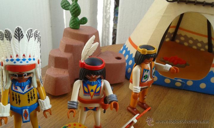 Playmobil: TIENDA INDIA PLAYMOBIL AÑO 1989 ,INDIOS PLAYMOBIL AÑO 1993,CABALLOS PLAYMOBIL,ROCA CACTUS AÑO 1995 - Foto 10 - 53511330