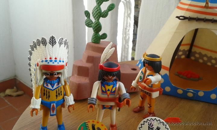 Playmobil: TIENDA INDIA PLAYMOBIL AÑO 1989 ,INDIOS PLAYMOBIL AÑO 1993,CABALLOS PLAYMOBIL,ROCA CACTUS AÑO 1995 - Foto 11 - 53511330