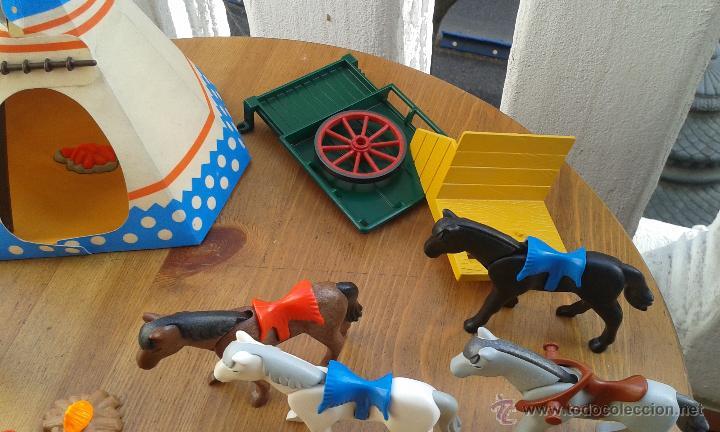 Playmobil: TIENDA INDIA PLAYMOBIL AÑO 1989 ,INDIOS PLAYMOBIL AÑO 1993,CABALLOS PLAYMOBIL,ROCA CACTUS AÑO 1995 - Foto 12 - 53511330