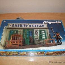 Playmobil: PLAYMOBIL 3423 (V5. BLACK-NR.). OFICINA DEL SHERIFF. OESTE (WESTERN). CAJA. COMPLETO*. 1992. VINTAGE. Lote 53753977