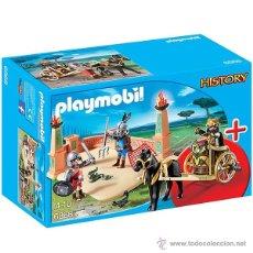 Playmobil: PLAYMOBIL LOTE CIRCO ROMANO GLADIADORES CON CUADRIGA ROMANOS BELEN 6868 NUEVO EN CAJA SIN ABRIR. Lote 55068548