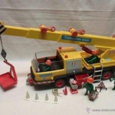Playmobil: ANTIGUO CAMIÓN GRÚA FAMOBIL PLAYMOBIL AÑO 1981 COMPLETO. Lote 53873109