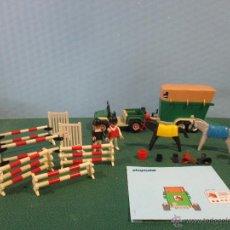 Playmobil: PLAYMOBIL-REF-3140-AÑO 86-JEEP CON REMOLQUE-HIPICA-COMO NUEVO,CON INSTRUCCIONES. Lote 53976092