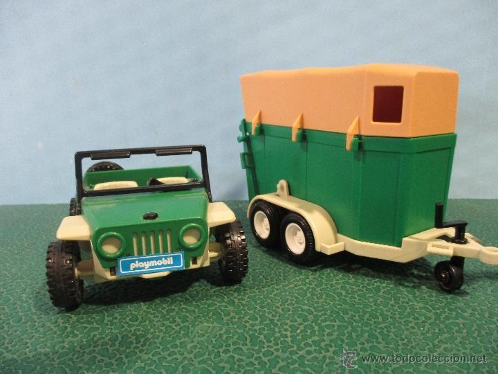 Playmobil: PLAYMOBIL-REF-3140-AÑO 86-JEEP CON REMOLQUE-HIPICA-COMO NUEVO,CON INSTRUCCIONES - Foto 2 - 53976092