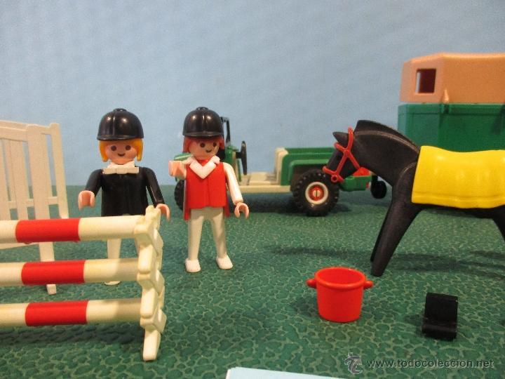 Playmobil: PLAYMOBIL-REF-3140-AÑO 86-JEEP CON REMOLQUE-HIPICA-COMO NUEVO,CON INSTRUCCIONES - Foto 5 - 53976092