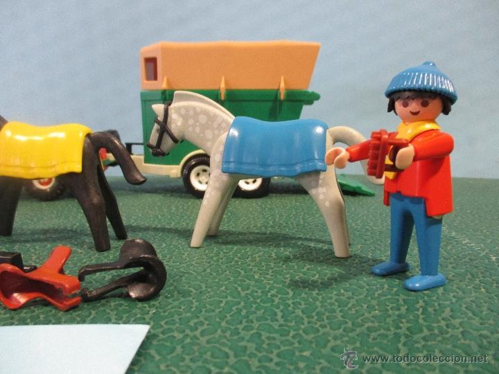 Playmobil: PLAYMOBIL-REF-3140-AÑO 86-JEEP CON REMOLQUE-HIPICA-COMO NUEVO,CON INSTRUCCIONES - Foto 6 - 53976092