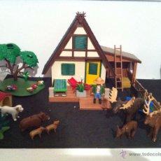 Playmobil: PLAYMOBIL. CASA DEL GUARDIAN DEL BOSQUE. CONJUNTO COMPLETO. FIGURAS, CIERVOS, JABALIS,. Lote 54477347