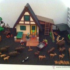 Playmobil - PLAYMOBIL. CASA DEL GUARDIAN DEL BOSQUE. CONJUNTO COMPLETO. FIGURAS, CIERVOS, JABALIS, - 54477376