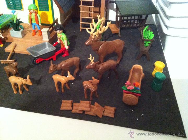 Playmobil: PLAYMOBIL. CASA DEL GUARDIAN DEL BOSQUE. CONJUNTO COMPLETO. FIGURAS, CIERVOS, JABALIS, - Foto 2 - 54477376