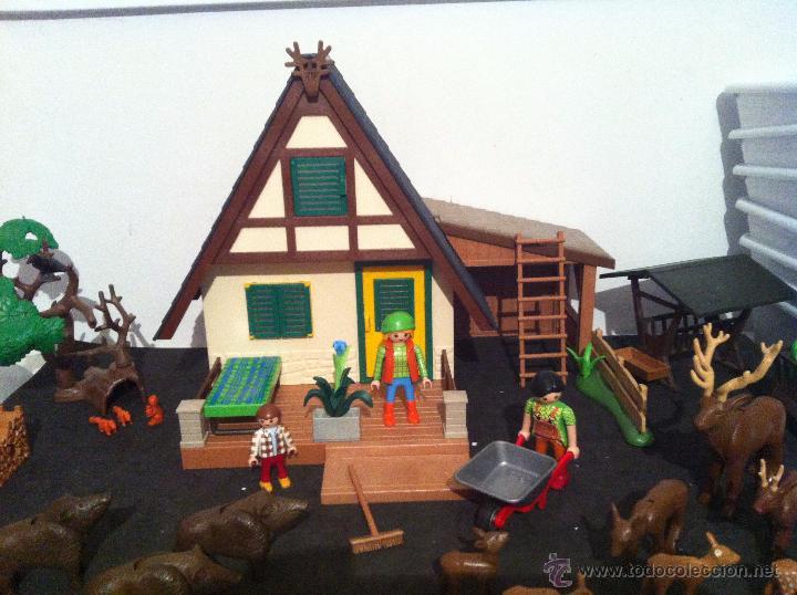 Playmobil: PLAYMOBIL. CASA DEL GUARDIAN DEL BOSQUE. CONJUNTO COMPLETO. FIGURAS, CIERVOS, JABALIS, - Foto 5 - 54477376