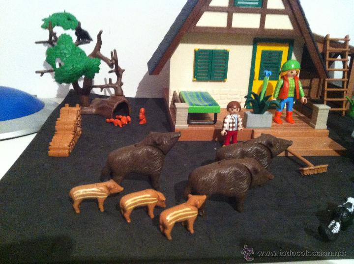 Playmobil: PLAYMOBIL. CASA DEL GUARDIAN DEL BOSQUE. CONJUNTO COMPLETO. FIGURAS, CIERVOS, JABALIS, - Foto 6 - 54477376