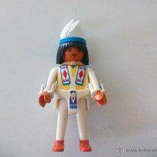 Playmobil: FIGURA DE PLAYMOBIL, INDIO, HOMBRE CON PLUMAS. OESTE, WESTERN. CLICK.. Lote 54592159