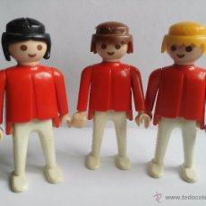 Playmobil: 3 PERSONAJES PLAYMOBIL, AÑO 1974 -SE MANDA TAL CUAL ESTA LA FOTO. Lote 54647140