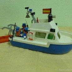 Playmobil: ANTIGUA PATRULLERA DE RESCATE-LANCHA POLICÍA CLICKS FAMOBIL SYSTEM- ORIGINAL GEOBRA 1979. REF. 3539. Lote 263233850
