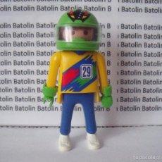 Playmobil: PLAYMOBIL FIGURAS PILOTO COCHES MOTOS CIUDAD. Lote 56182223