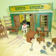 Playmobil: ANTIGUO DRUG-STORE OESTE WESTERN CLIKS FAMOBIL SYSTEM.ORIGINAL GEOBRA AÑO 1984.REFERENCIA 3424. Lote 56324874