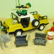 Playmobil: ANTIGUO JEEP SAFARI - EXPEDICIÓN CONGO CLICKS FAMOBIL SYSTEM-ORIGINAL GEOBRA AÑO 1974 - REF. 3528. Lote 56574399