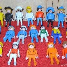 Playmobil: LOTE PLAYMOBIL DE 20 FIGURAS + 2 CABALLOS TODOS GEOBRA 1974. Lote 99714360