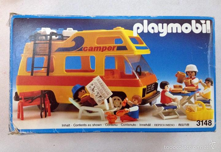 3148 playmobil caravana camper con familia camp comprar for Autocaravana playmobil