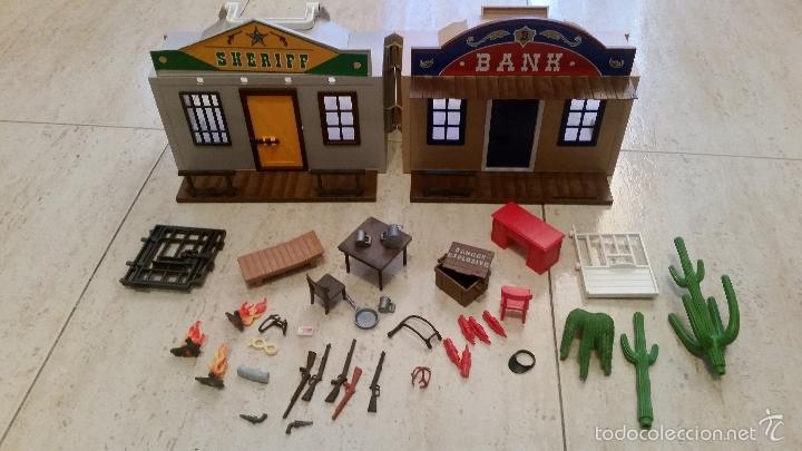 Casa oeste playmobil ref 4398 maletin banco y c comprar for Casa maletin playmobil