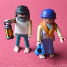 Playmobil: 2 FIGURAS ARCA DE NOAH - NOE Y MUJER - CON CANDIL Y VASO -DIORAMA PLAYMOIL. Lote 56836078