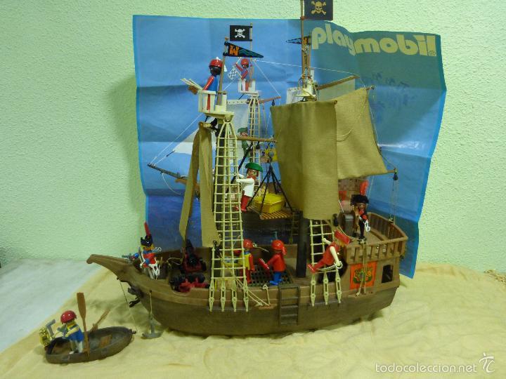 Antiguo barco pirata clicks playmobil original comprar for Barco pirata playmobil