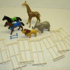 Playmobil: PLAYMOBIL ANIMALES SALVAJES,CABALLOS Y VALLAS,LEÓN,JIRAFA,ELEFANTE. Lote 57075844