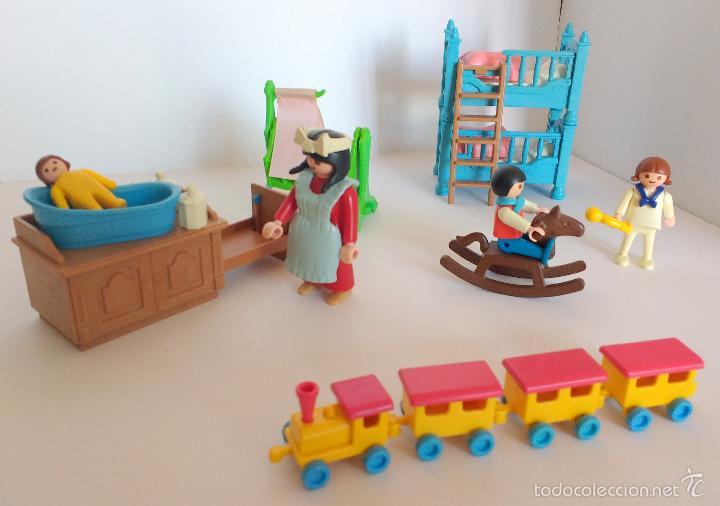 Playmobil 5311 habitaci n victoriana ni os tren comprar for Casas de juguete para jardin de segunda mano
