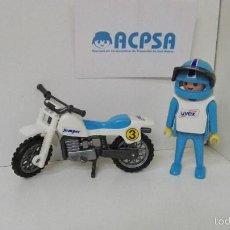 Playmobil: PLAYMOBIL MOTO COLOR AZUL. Lote 128054244