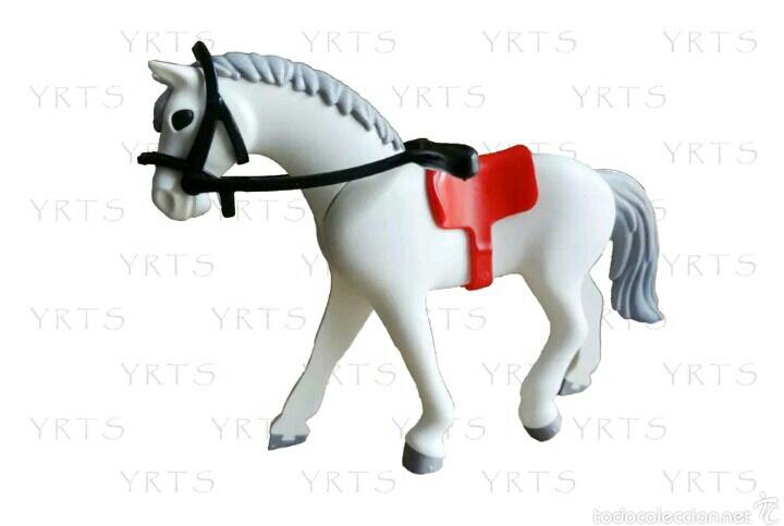 YRTS 6799 Playmobil Caballo Blanco con Riendas y Montura ¡New!