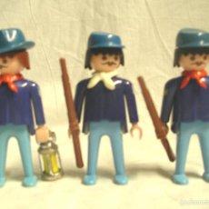 Playmobil: LOTE 3 SOLDADOS LA UNIÓN USA GEOBRA DE PLAYMOBIL AÑO 1974. Lote 232100070