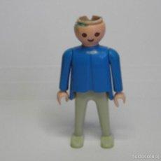 Playmobil: FIGURA PLAYMOBIL AZUL Y BLANCO. Lote 58084026