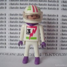 Playmobil: PLAYMOBIL FIGURAS PILOTO COCHES MOTOS CIUDAD. Lote 58603735