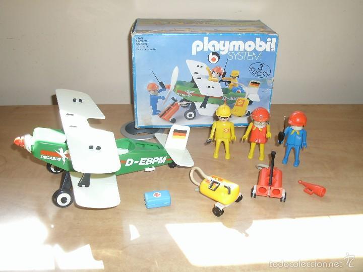 PLAYMOBIL 3246. BIPLANO (AVIONETA). CIUDAD (CITY). CAJA. COMPLETO*. VINTAGE (Juguetes - Playmobil)