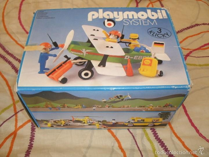 Playmobil: Playmobil 3246. BIPLANO (AVIONETA). Ciudad (city). Caja. Completo*. Vintage - Foto 3 - 60921475