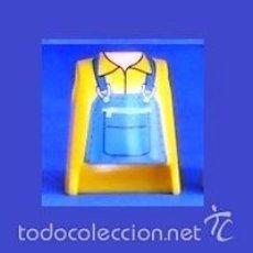 Playmobil: PLAYMOBIL PIEZAS TORSO CHICO CIUDAD OESTE VICTORIANO CONSTRUCCIÓN TREN AMARILLO OSCURO Y DIBUJO. Lote 60992535