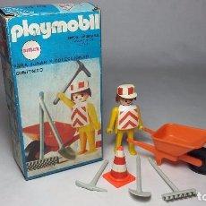 Playmobil: PLAYMOBIL OBRERO OPERARIO CONSTRUCCION ANTEX EN CAJA (ZCETA). Lote 61510251