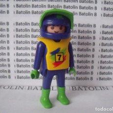 Playmobil: PLAYMOBIL FIGURAS PILOTOS COCHES MOTOS CIUDAD. Lote 62542124