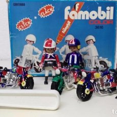 Playmobil: ANTIGUA CAJA DE FAMOBIL PLAYMOBIL COLOR. Lote 127605698