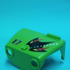 Playmobil: PLAYMOBIL 3041 FRONTAL MORRO CARROCERIA JEEP PIEZA DELANTERA REPUESTO VERDE 3371 PLAYMOVIL. Lote 64360631