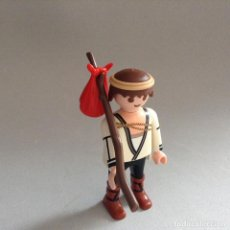 Playmobil: PLAYMOBIL FIGURA ALDEANO VARA Y SACO CASTILLO BELEN MEDIEVAL PIEZAS. Lote 147789737