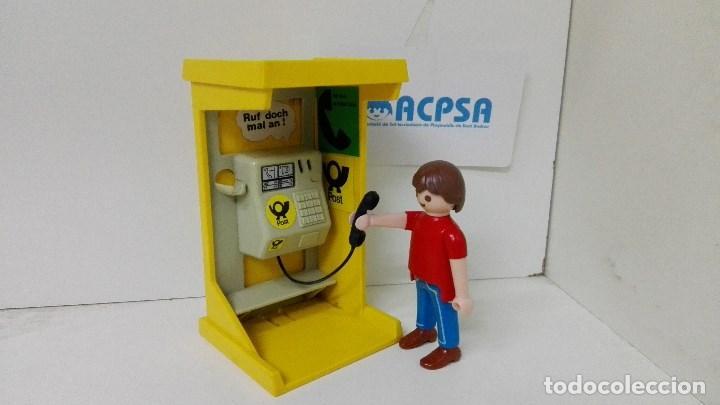 Cabina Telefonica : Playmobil hombre con cabina telefonica comprar playmobil en